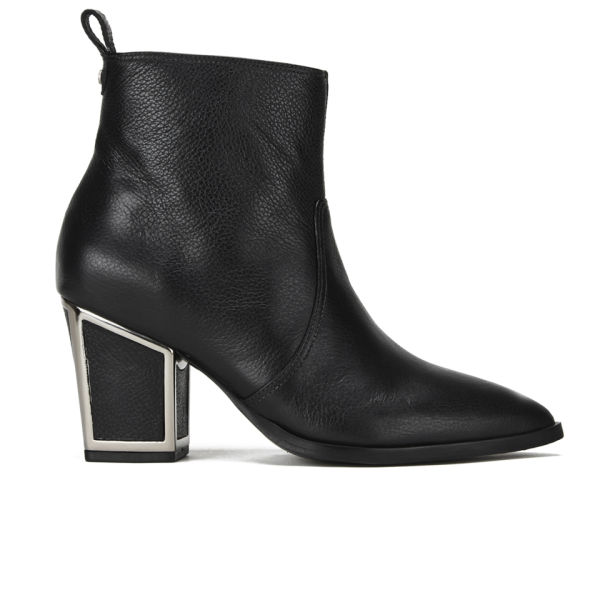 Kat Maconie Women's Hyacinth Block Heeled Leather Ankle Boots - Black