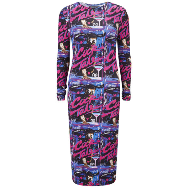 House of Holland Women's Midi Bodycon Stretch Print Dress - Cock Tale