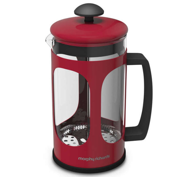 morphy richards red kitchen accessories morphy richards equip cafetiere homeware thehut 9291