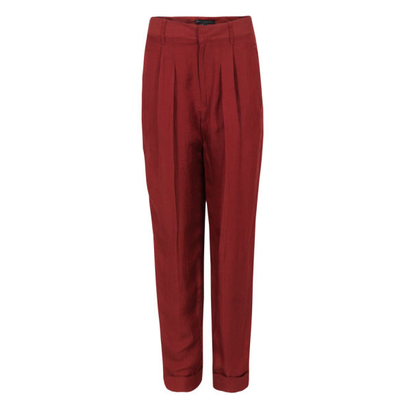Marc by Marc Jacobs Women's M1122002 Clive Canvas Trousers - Deep Maroon