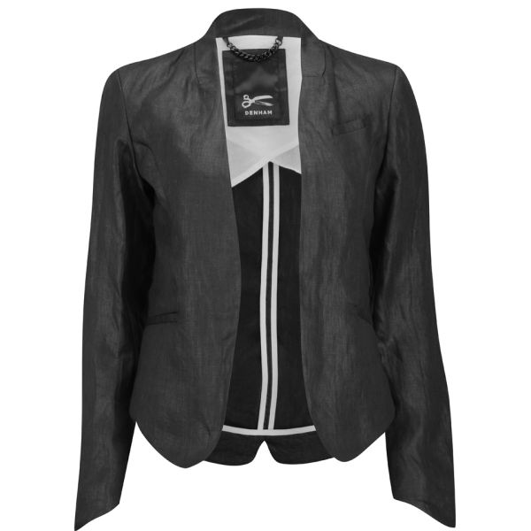 Denham Women's Linen Tailored Jacket - Black
