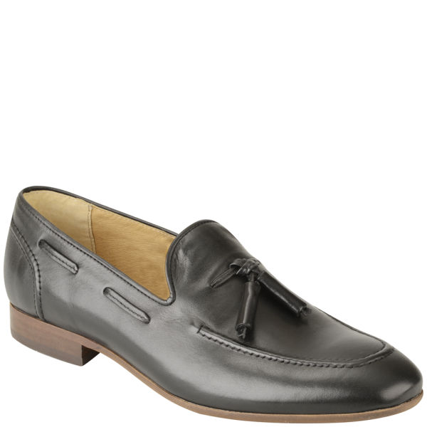 Hudson London Men's Pierre Leather Tassel Loafers - Black: Image 3
