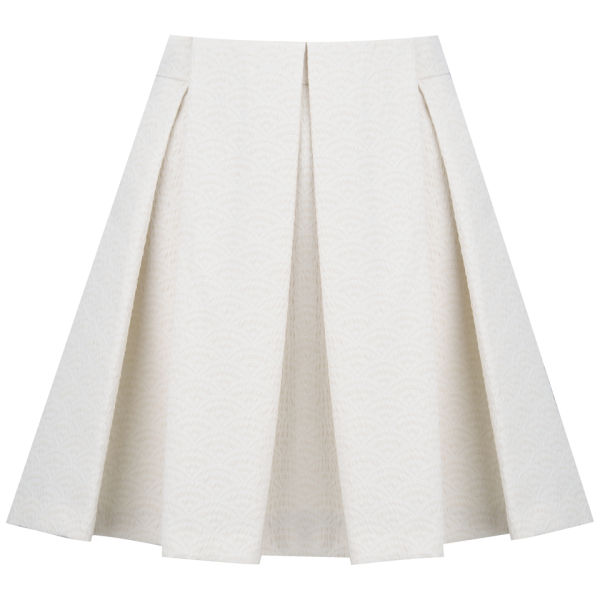 See By Chloé Women's Neon Crinkled Jacquard Skirt - Cream