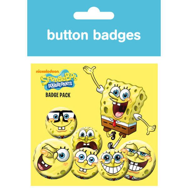 Lot de Badges Expressions Bob l'Éponge