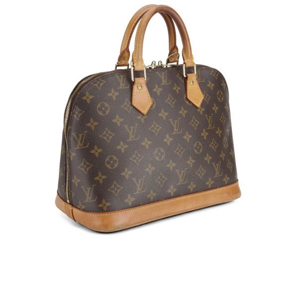 Louis Vuitton Vintage Leather Alma Bowler Bag Brown Image 2