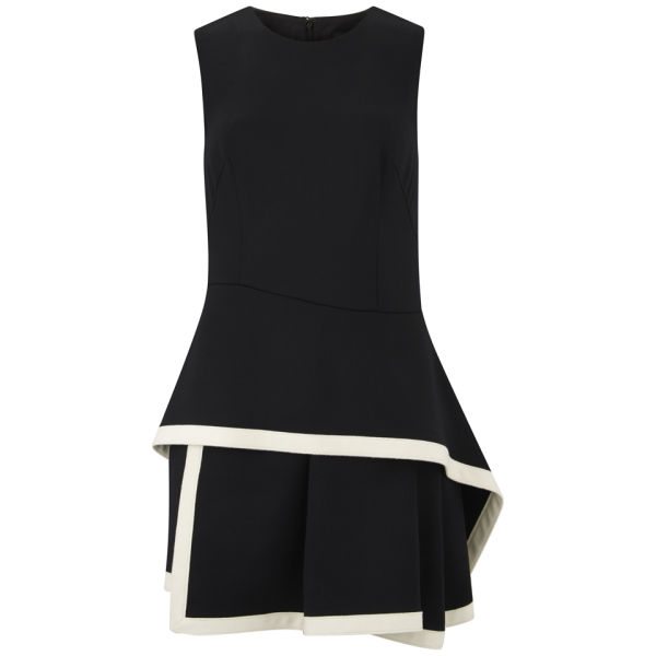 McQ Alexander McQueen Women's Roundneck Peplum Dress - Jet Black