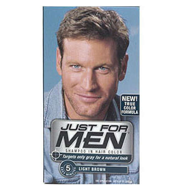 Just for Men Shampoo-in Hair Colour Light Medium Brown Health ...