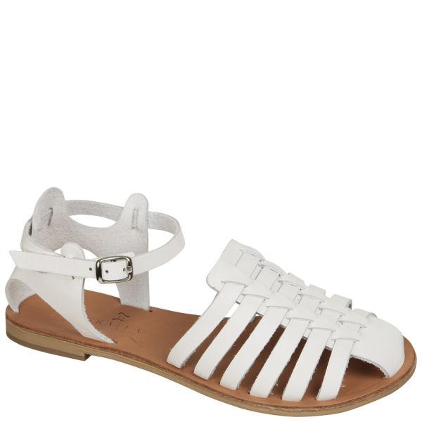 Grafea Women's Daisy Leather Sandals - White