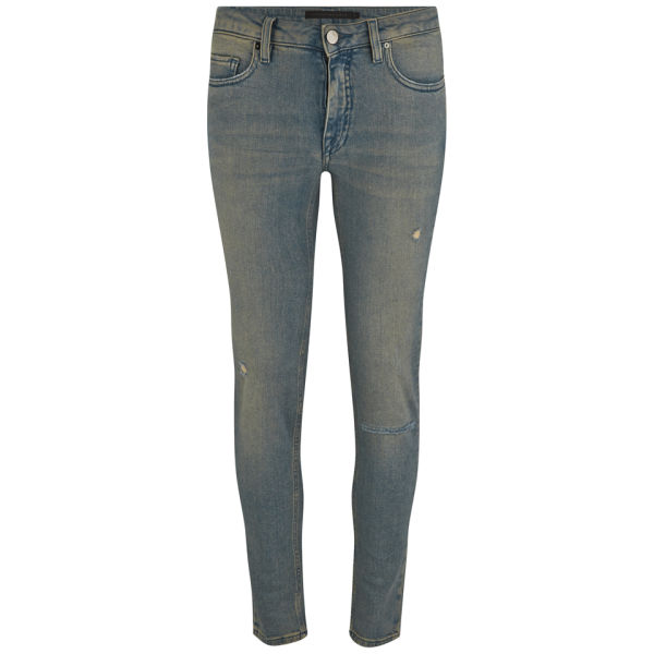 Victoria Beckham Womens Ankle Slim Ripped Skinny Jeans - Bleach Rip