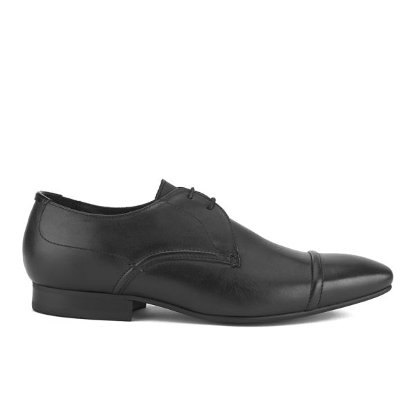 Hudson London Men's Larch Toe Cap Derby Shoes - Black