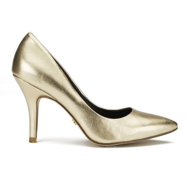 Ravel Women's Mableton Metallic Court Shoes - Gold | FREE ...