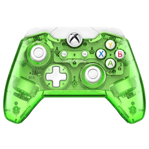 Rock Candy Green Wired Xbox One Controller Minecraft