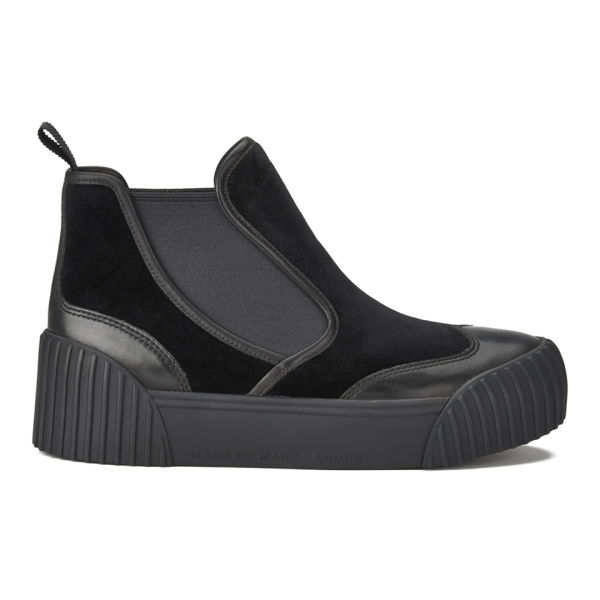 Marc by Marc Jacobs Women's Velvet Flatform Ankle Boots - Black