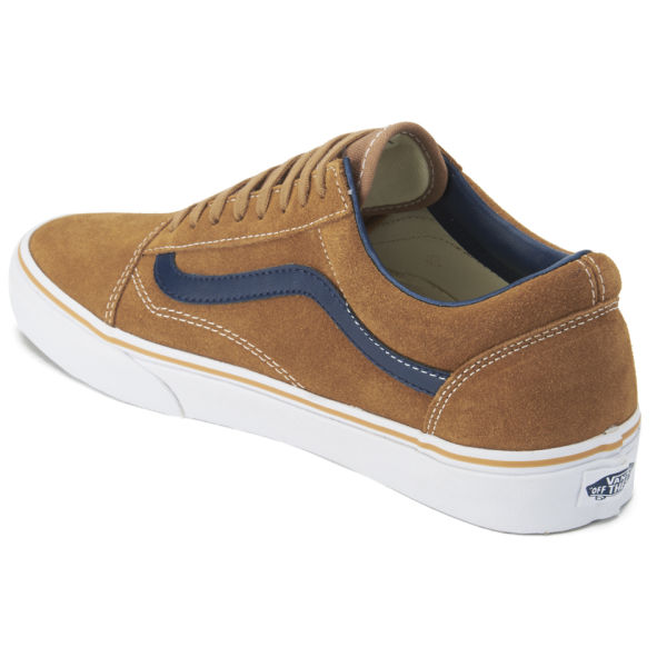 b71d8986006959 Vans Men s Old Skool Suede Leather Trainers - Brown Sugar  Image 5