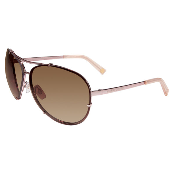 93c1402bb0f MICHAEL MICHAEL KORS Women s Stella Metal Aviator Style Sunglasses - Rose  Gold  Image 1