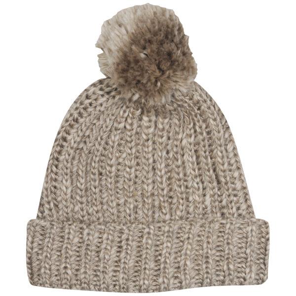 Men's Cable Knit Bobble Hat - Stone Clothing | TheHut.com