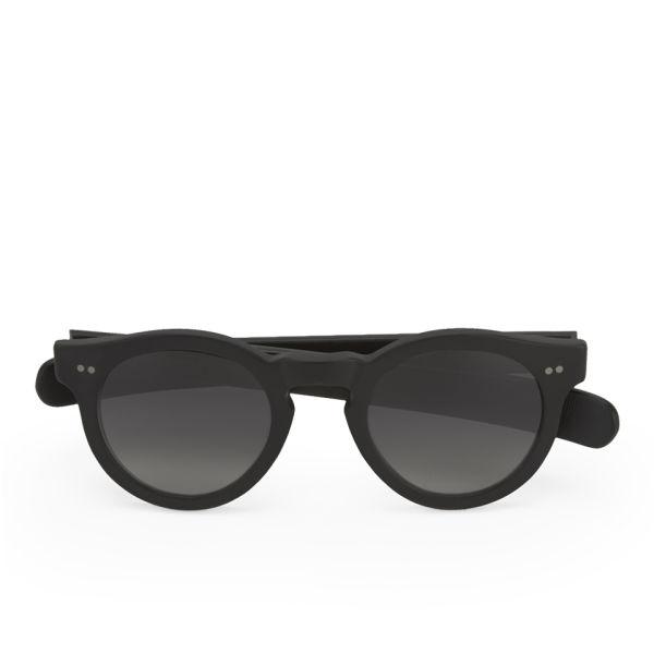 Eye Respect Shaun Matte Black Frame Sunglasses - Smoke