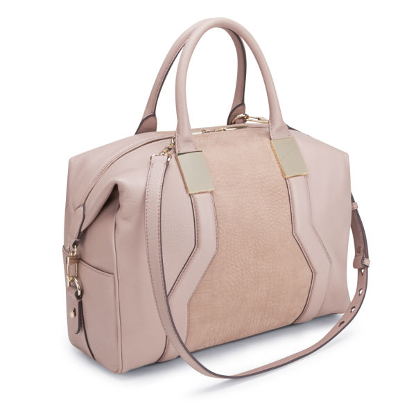French Connection Evie Leather Tote Bag Pink Image 2