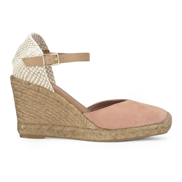 KG Kurt Geiger Women's Monty Espadrille Wedged Sandals - Nude