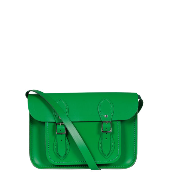b17e58c470c60 The Cambridge Satchel Company 11 Inch Classic Leather Satchel - Green   Image 1