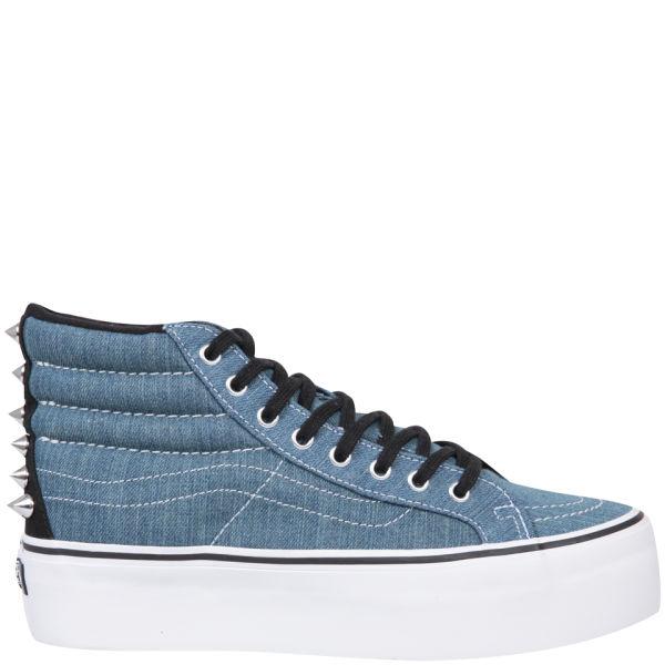 Vans Sk8-Hi Platform Studded Trainers - Blue/True White