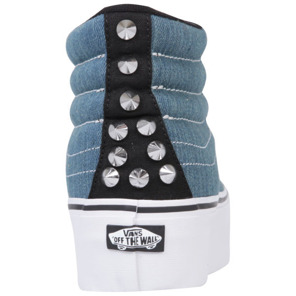 a7b394a86833 Vans Sk8-Hi Platform Studded Trainers - Blue True White Clothing ...