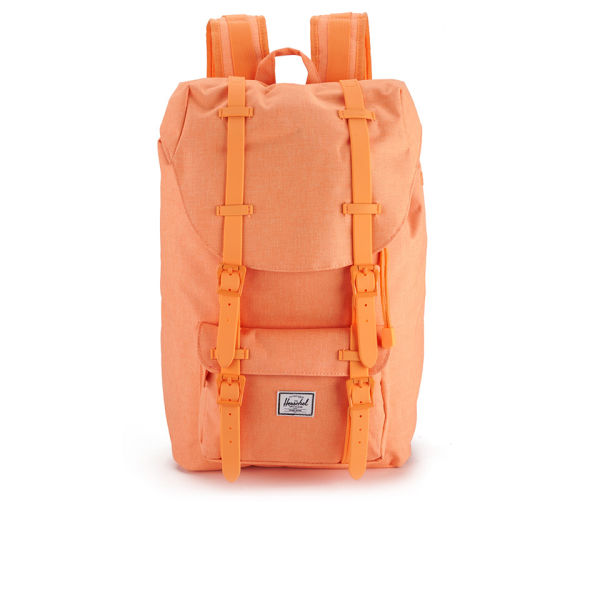 a4a7556e3008 Herschel Supply Co. Women s Little America Mid Volume Backpack - Washed  Mango Crosshatch Mango