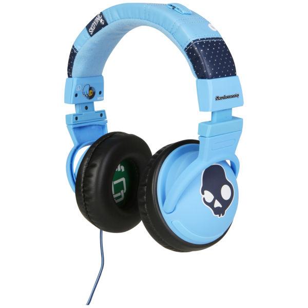 Light blue candy skull earbuds - headphones skullcandy earbud
