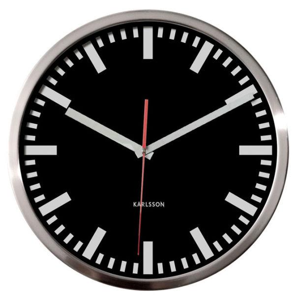 wall clock station w second hand buy online mankind. Black Bedroom Furniture Sets. Home Design Ideas