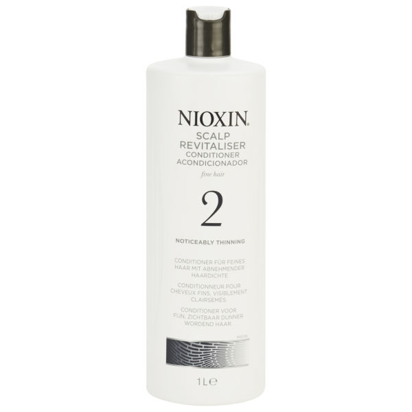 NIOXIN System 2 Scalp Revitaliser Conditioner for Noticeably Thinning Natural Hair 1000ml (Worth £68.30)