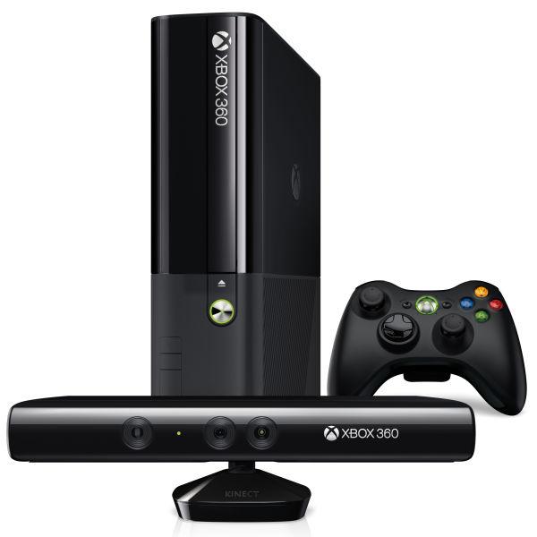 New xbox 360 super slim 4gb with kinect matte black console games consoles - Xbox 360 console with kinect ...