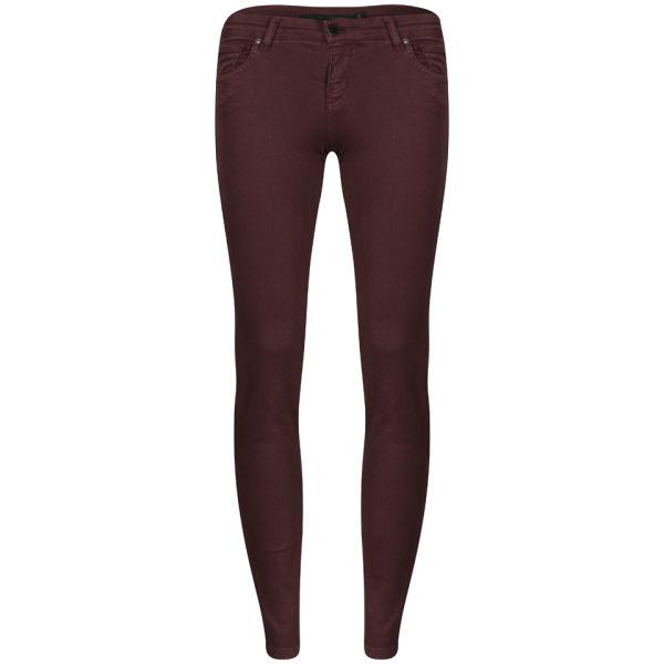 Victoria Beckham Women's Powerskinny Woven Jeans - Merlot
