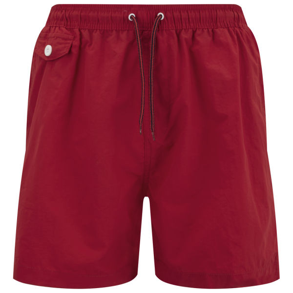 Brave Soul Men's Cafu Swim Shorts - Red Mens Clothing | Zavvi