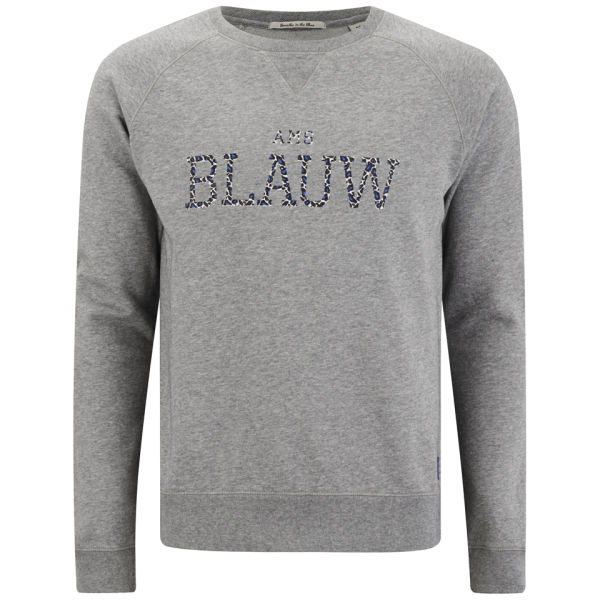 Scotch & Soda Men's Amsterdam Blauw Sweatshirt - Grey Melange: Image 1