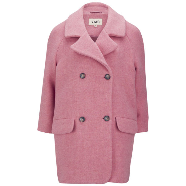 YMC Women's Scuba Oversized Wool Coat - Pink