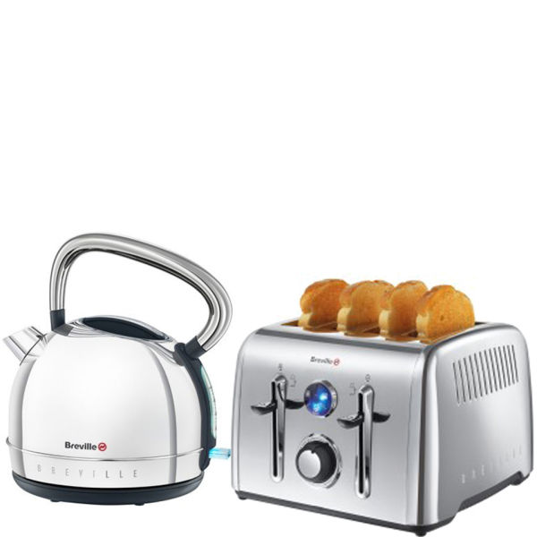 Breville Premium Toaster And Kettle Bundle Stainless