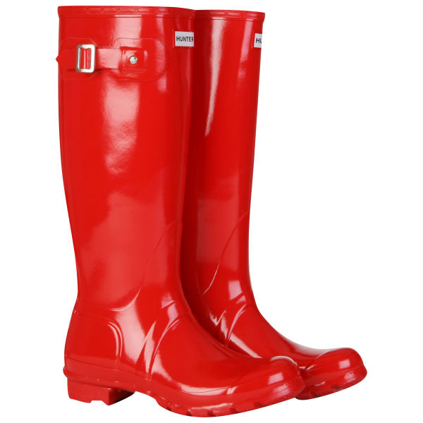 Hunter Women's Original Gloss Wellies - Pillar Box Red