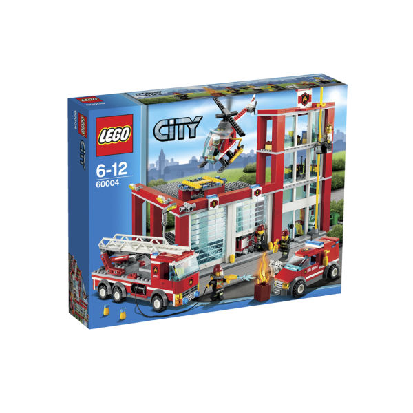 Lego City Fire Station 60004 Toys Zavvi