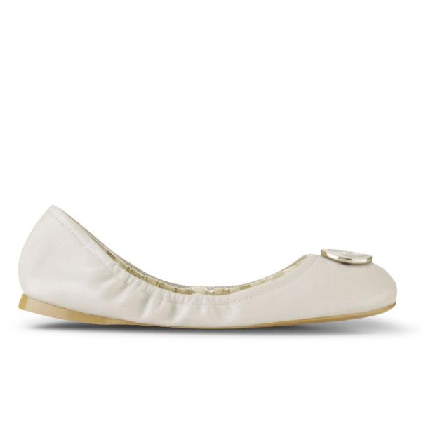 Lauren Ralph Lauren Women's Brittany Leather Ballet Pumps - Light Ivory