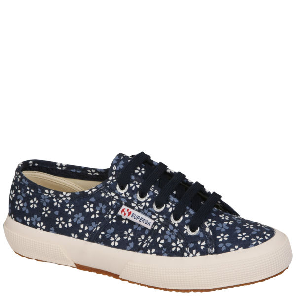 Superga Women's 2750 Spotted Fabric Trainers - Floral