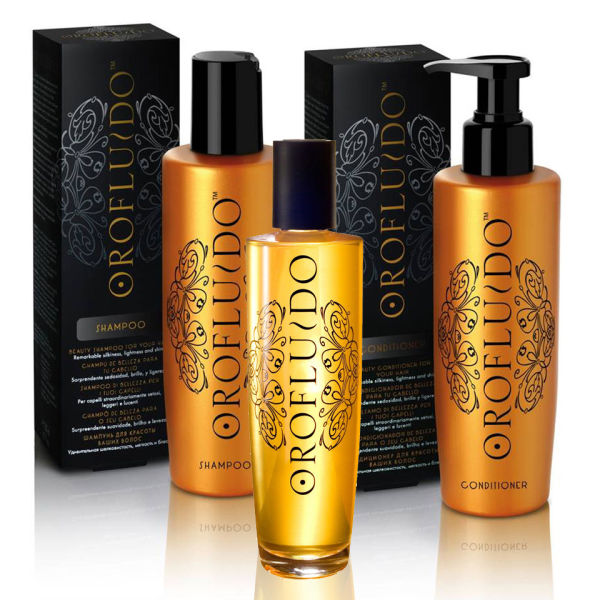 Orofluido Shampoo, Conditioner og Elixir Trio verdt £ 49.99 (Bundle)