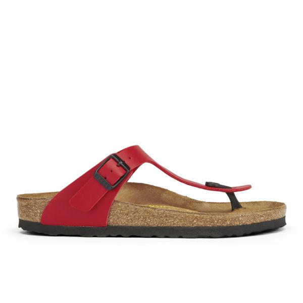 Birkenstock Women's Gizeh Toe-Post Leather Sandals - Cherry