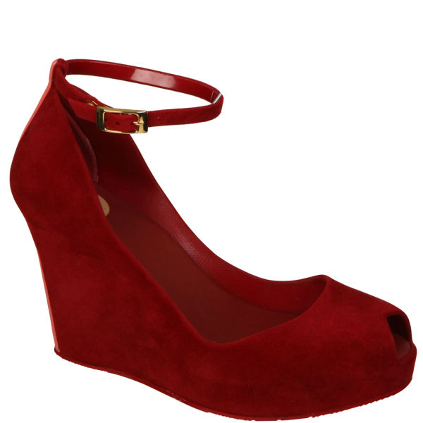 Melissa Women's Patchuli IV Shoes - Red Flock