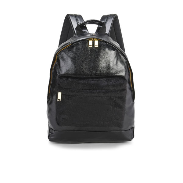 Mi-Pac Gold Metallic Pony Backpack - Black