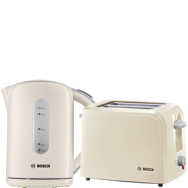 bosch village collection toaster and kettle bundle cream iwoot. Black Bedroom Furniture Sets. Home Design Ideas