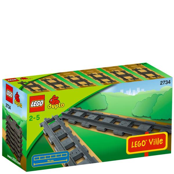 Lego Duplo Straight Rails 2734 Toys Thehut Com
