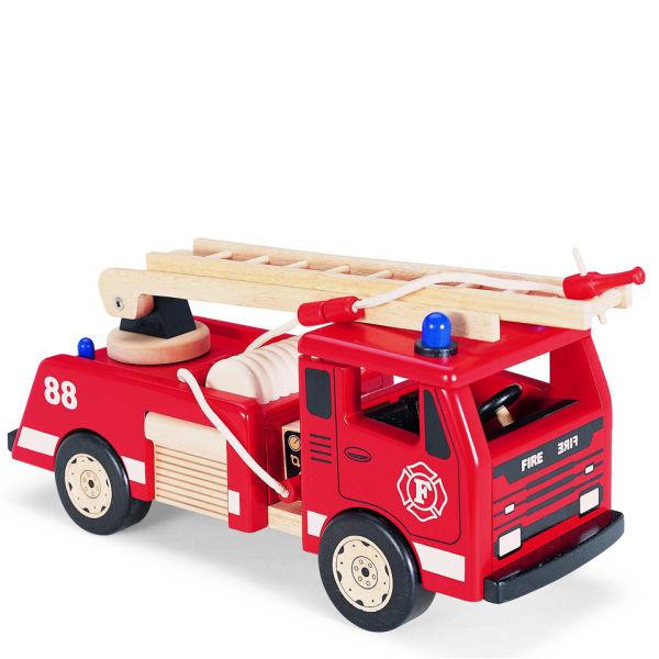 Pintoy Wooden Fire Engine Toys Zavvi