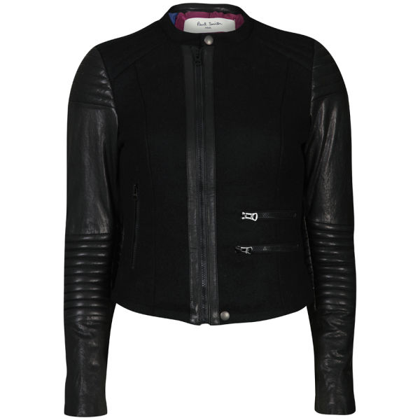 Paul by Paul Smith Women's Motorcycle Jacket - Black
