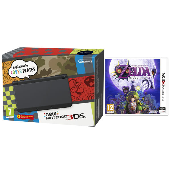 NEW 3DS Black Console - Includes Legend of Zelda: Majora's Mask