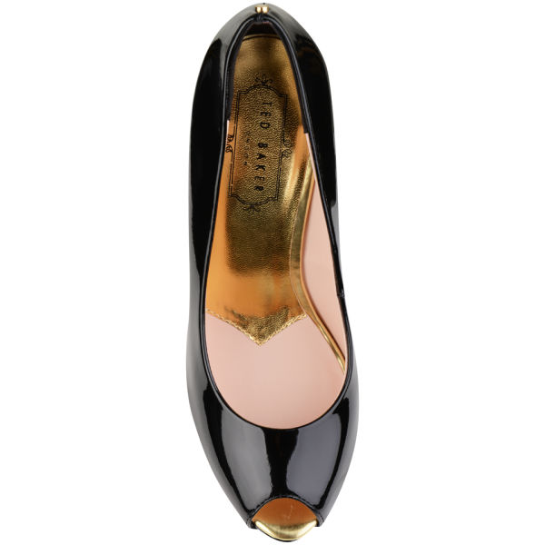 ted baker s abesi patent open toe platform shoes